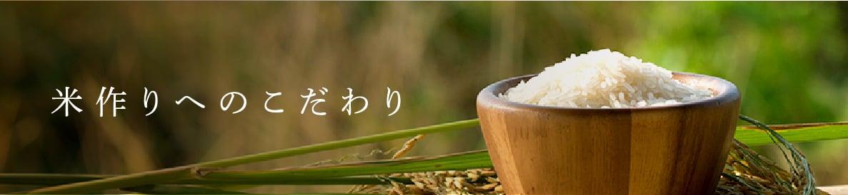 米づくりへのこだわり